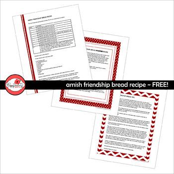 Teacher Gift Amish Friendship Bread Recipe by Poppydreamz
