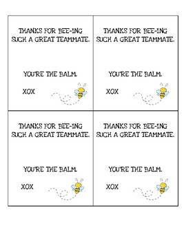 photograph regarding You're the Balm Free Printable called Youre The Balm Worksheets Instruction Products TpT