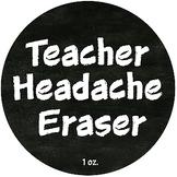 Teacher Gift| Headache Eraser| Holiday Staff Gift Ideas|