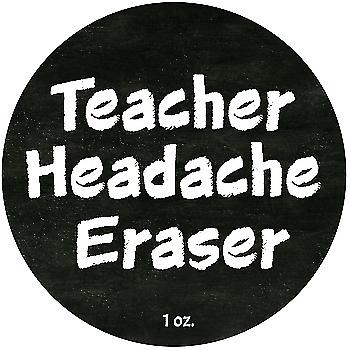 Teacher Gift  Headache Eraser  Holiday Staff Gift Ideas 