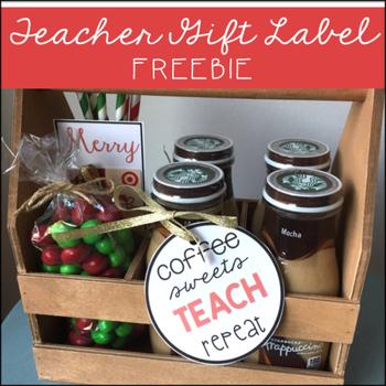 Teacher Gift Label FREEBIE