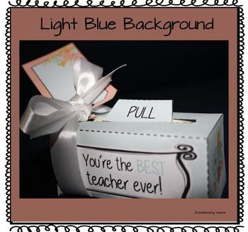 Teacher Gift - Money Scroll Box (Thank You So Much -Best Teacher Ever)
