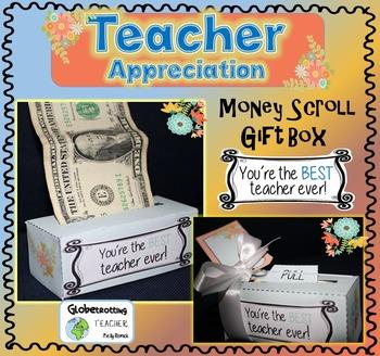 Teacher Gift - Money Scroll Box (Thank You So Much -Best T