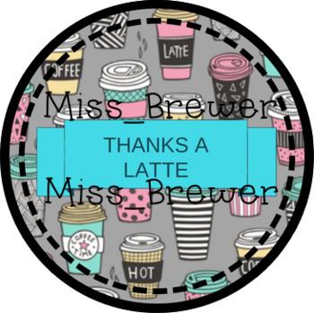 Thanks A Latte Teacher Gift Tag