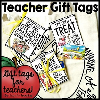 Teacher gift tags by recipe for teaching teachers pay teachers teacher gift tags negle Gallery