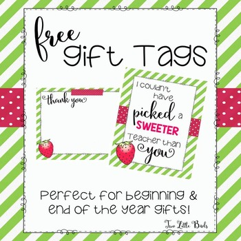Beginning/End of the Year Gift Tags & Thank You Cards