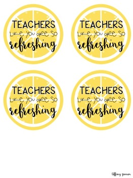 Teacher Gift Tags FREEBIE: Lemonade Edition
