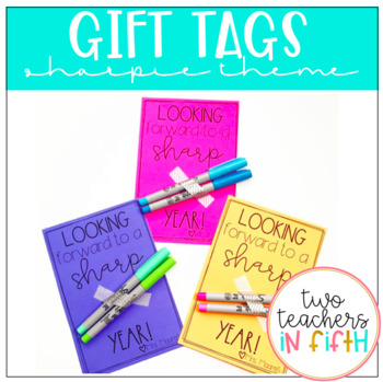 "Teacher Gift Tags: ""Sharp"" Year"