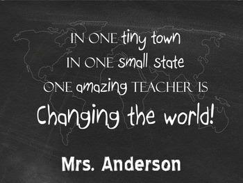 Teacher Gift- Teacher Appreciation Sign- Personalize it!