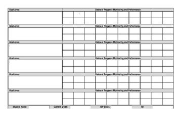 Teacher Goal Monitoring Log