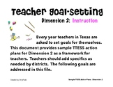 TTESS Teacher Goal-Setting (D2 Instruction)