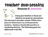 TTESS Teacher Goal-Setting (D2 Instruction)