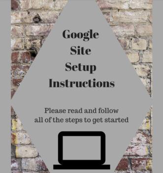 Teacher Google Site Setup - Let me do the work for you!
