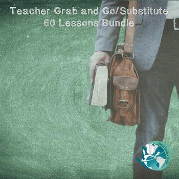 Teacher Grab and Go/Substitute 60 Lessons Bundle!