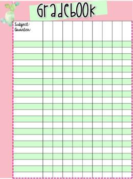teacher grade book editable cactus by kristi deroche tpt