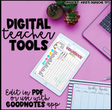 Teacher Gradebook - EDITABLE - Llama and Cactus