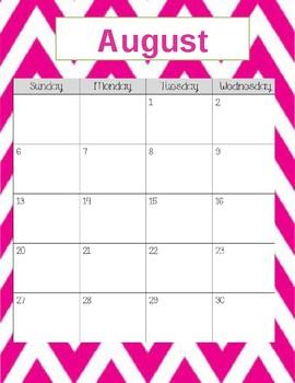 Teacher Gradebook & Agenda (Pink Chevron)