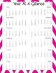 Teacher Gradebook & Agenda (Pink Chevron)