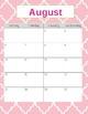 Teacher Gradebook & Agenda (Pink Quatrefoil)