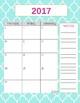 Teacher Gradebook & Agenda (Teal Quatrefoil)