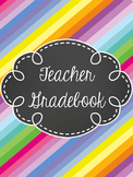 Teacher Gradebook - EDITABLE- Stripes