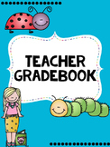 Teacher Gradebook- EDITABLE- Insect