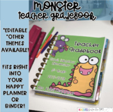 Teacher Gradebook - EDITABLE - Monster