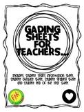 Teacher Grading Sheets