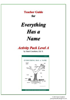 Teacher Guide for Everything Has a Name – Level A