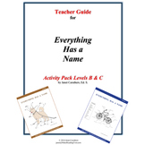 Teacher Guide for Everything Has a Name – Level B & C