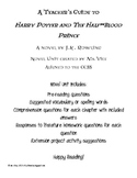 Teacher Guide for JK Rowling's Harry Potter and the Half-B