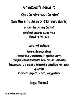 Teacher Guide for the Carnivorous Carnival