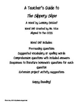 Teacher Guide for the Slippery Slope