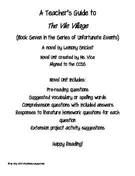 Teacher Guide for the Vile Village