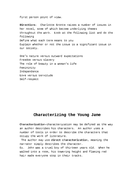 Teacher Guide to Jane Eyre