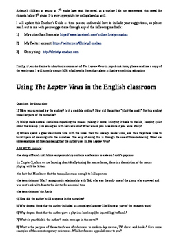 Teacher Guide to The Laptev Virus