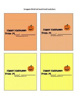 Teacher Halloween Cards and Candy Bar Wraps