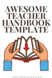 """Teacher Handbook"" (for Administrators) - Human Resources"