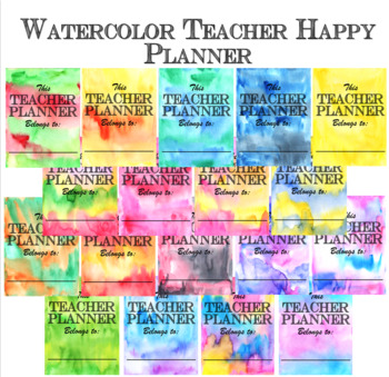 Teacher Happy Planner - Watercolor