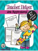 Teacher Helper Classroom Job Application