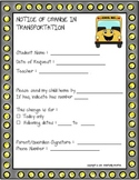 Teacher Helper - Notice of Student Change of Transportation FORM