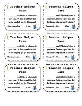 Teacher Helper Pass