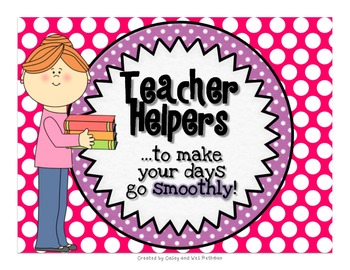 Teacher Helpers To Keep Your Day Running Smoothly {Polka Dot Print}