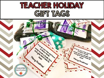 Teacher Holiday Gift Tags