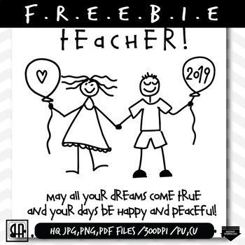 Teacher Holiday Greeting Card Free, New year Greeting Card freebie