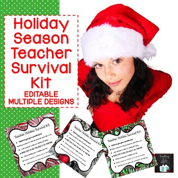 Teacher Holiday Survival Kit {CUSTOMIZABLE}