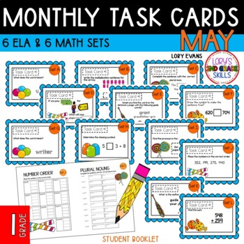 "1st Grade ""Teacher, I'm Done!"" Task Cards May"