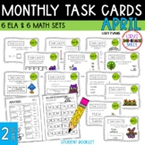"2nd Grade ""Teacher, I'm Done!"" Task Cards for April"