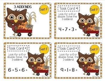 """Teacher, I'm Done!"" Task Cards for Fall"