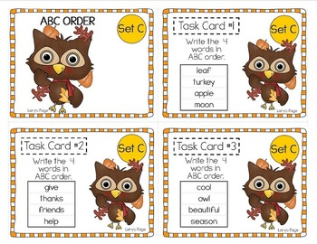 "2nd Grade ""Teacher, I'm Done!"" Task Cards for Fall"